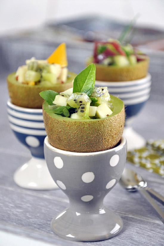 Small stuffed kiwi fruits