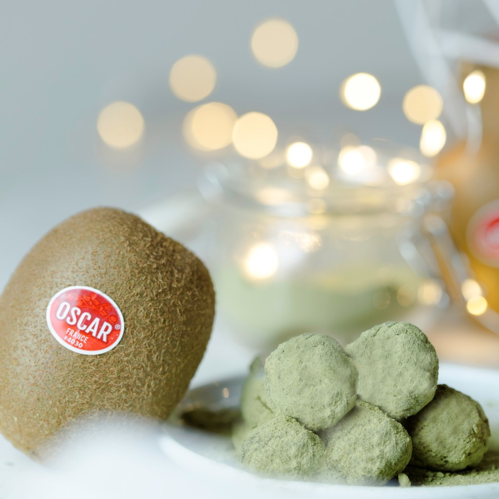 Oscar® kiwi fruits and matcha tea truffles