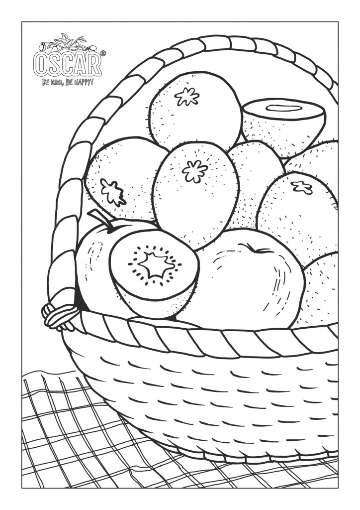 Printable Coloring to relax with Oscar® Kiwi!