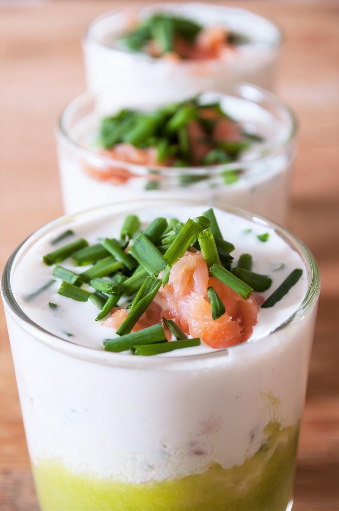 Oscar® kiwi fruits & smoked salmon verrines