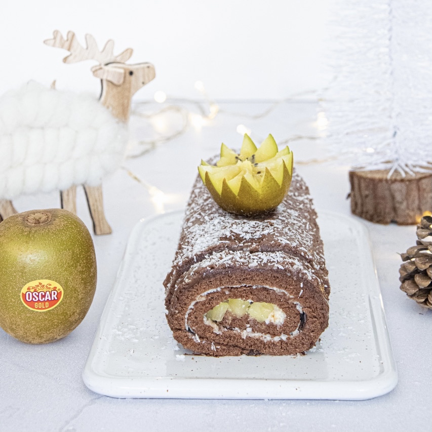 Oscar kiwi and milk chocolate roll