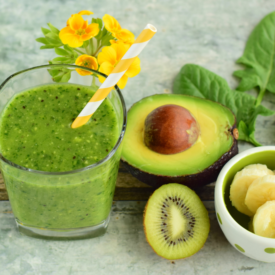 Green Kiwi & Avocado Smoothie