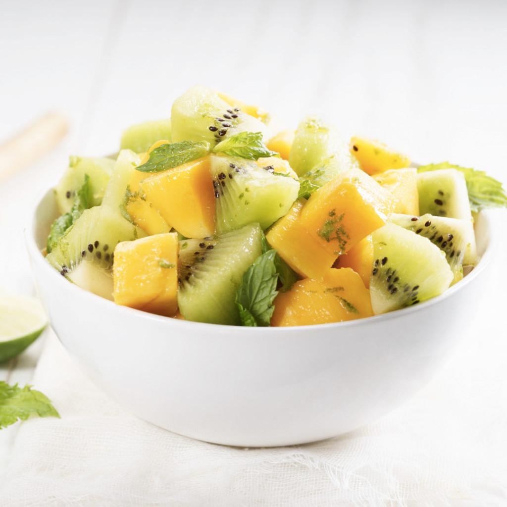 Mango and kiwifruit Fresh Fruit Salad